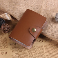 Hand Crafted Leather Card Case -Bussiness Card Holder - Leather Name Card Cover - Personalized Credit Card Case