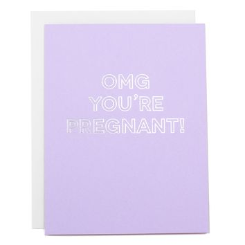 OMG You're Pregnant Card