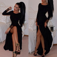 Fashion WOMEN'S Dress Evening Cocktail DresS Long Dress Bandage S/M/L/Xl/XXL = 5698483841