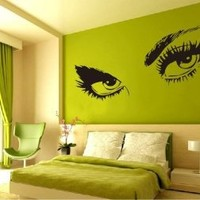 "Amazon.com: Large Audrey Hepburn's Eyes Vinyl Wall Decal Girl's Bedroom /Living room Art Decor Birthday Gift Hotel Ornament - 45"" Black: Home & Kitchen"