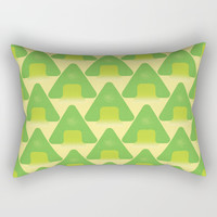 Triangle tree pattern Rectangular Pillow by Berwies
