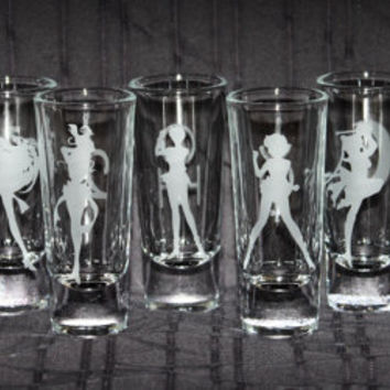 Duel-Sided Sailor Moon Shooter Set featuring all 9 Planetary Symbols