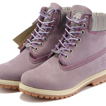 Timberland Rhubarb Boots 69624 Purple For Women Men Shoes Waterproof Martin Boots