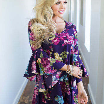 Dreamed a Dream Floral Belle Sleeve Dress