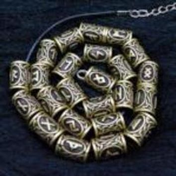 Customizable Norse Rune Charm Necklace