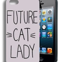Future Cat Lady Funny Quote Iphone 5 and 5s Case