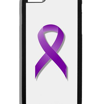 Epilepsy Awareness Ribbon - Purple Black Dauphin iPhone 6 Plus Cover by TooLoud