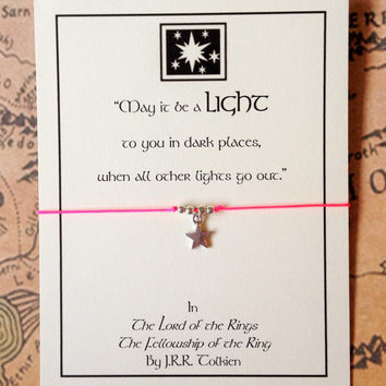 Lord of the Rings Charm Bracelet | Tolkien Quote | Bracelet with Card | Friendship Bracelet