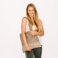 Beige Leather Bag - Large Tote Bag - School bag - Vegan leather bag - Carry All Bag