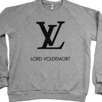 Heather Grey Sweatshirt | Funny Harry Potter Louis Vuitton Parody Shirt
