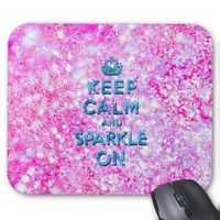 Keep Calm and Sparkle On Pink Teal Glitter Photo