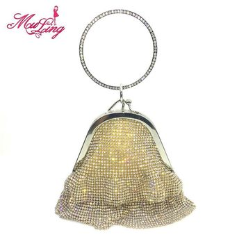 Diamonds women evening bags small purse clutches handbags silver/gold/black rhinestone evening bags bridal wedding crystal totes