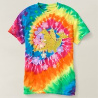 Orange Flower Power Dragon Tye-Dye Shirts