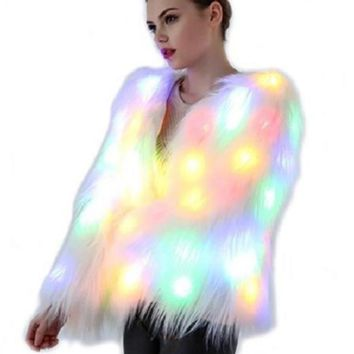 Light Up Fur Jacket