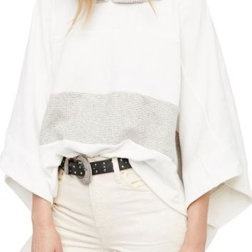 Free People Never Say Never Hooded Poncho | Nordstrom