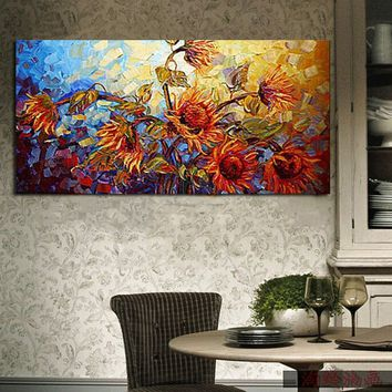 Large Modern Abstract Hand-painted Art Painting Print Wall Decor Canvas Unframe