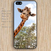 iPhone 5s 6 case colorful Peekaboo Giraffe phone case iphone case,ipod case,samsung galaxy case available plastic rubber case waterproof B335
