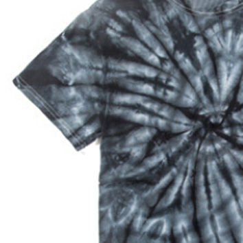 Dark Gray Tie Dye Printed T-shirt