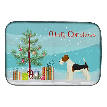 Fox Terrier Christmas Tree Dish Drying Mat CK3538DDM