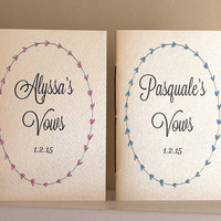 Wedding Vow Books With Metallic and Shimmer Covers - His And Her Vow Books