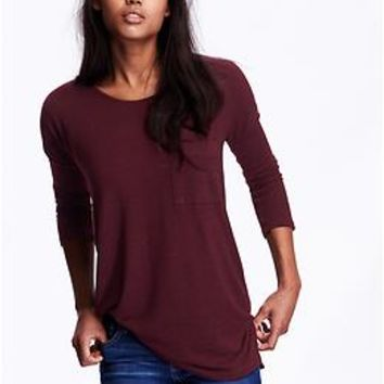 Women's 3/4-Sleeve Sweater-Knit Tunics