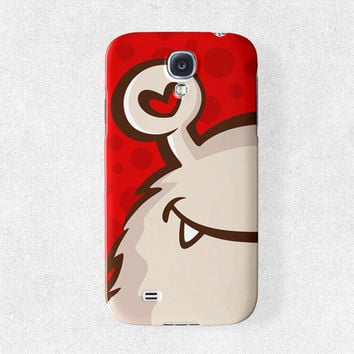 Cute Samsung Galaxy s4 Case Cute Samsung Galaxy s3 Case Red Galaxy s4 Case Cute Phone Case Monster Phone Case, Phone Covers samsung s4 case