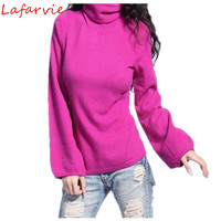 Lafarvie Off Sale Fashion Sweater Women Pullover Winter & Auturm Cashmere Knitted Sweaters Lady's Full Sleeve Coffee Pullovers