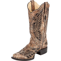 Women's Corral Bronze Black Sequence Cowgirl Boots