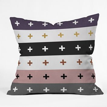 Elisabeth Fredriksson Positive Combination Throw Pillow
