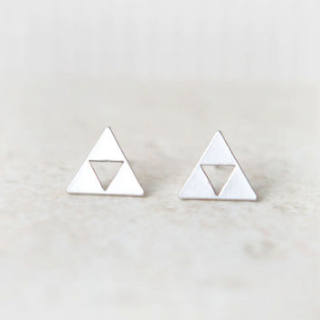 Tri Force Earrings in silver