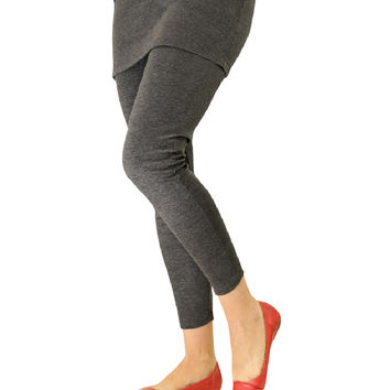 Magid Dark Gray Skirted Leggings - Women & Plus | zulily