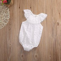 Lace Baby Summer Sunsuit