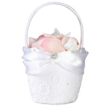 Lace Flower Girl Basket