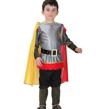 ONETOW Roman Warrior Knight Children Cosplay Hallowean Carnival Party Boy Prince King Kids Costumes Masquerade Suit CO55161173