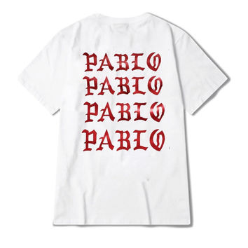 white unisex the life of pablo t shirt