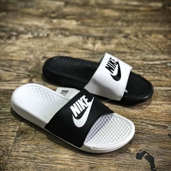 Nike Benassi Swoosh Sandals Style #2 Slippers - Best Online Sale
