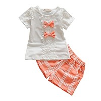 2pcs Summer Kids Sport Clothes Set