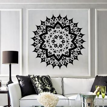 Vinyl Decal Wall Sticker Mandala Enso Circle Meditation Yoga Studio Art Unique Gift (n881)