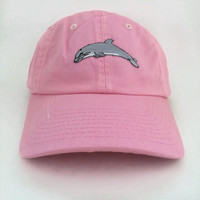 dolphin embroidery baseball cap