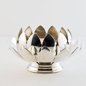 Reed & Barton Silver, Water Lily Centerpiece Set, Silverplate