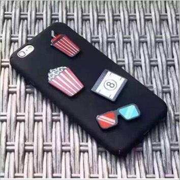 Korea popcorn cute patch for OPPO R9Splus R9plus mobile phone shell matte sets for oppo R9S R9 all-inclusive shell
