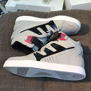 ADIDAS Trending Fashion Casual High Tops cRunning Sport Casual Shoes Sneakers Grey G-SSRS-CJZX