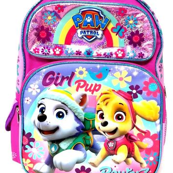"2017 New Arrive Paw Patrol Girls Pup Power! 16"" Backpack"