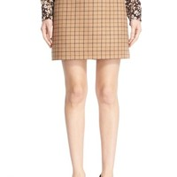 Michael Kors Plaid Wool A-Line Skirt | Nordstrom