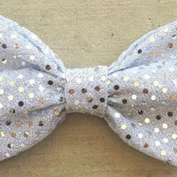Sequin Bow by HairBowsbyAndrea on Etsy