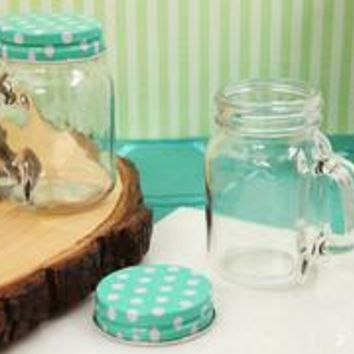 5oz Classic Mason Jar Favors with Polka Dot Lids