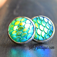 Green Mermaid with Silver 12MM