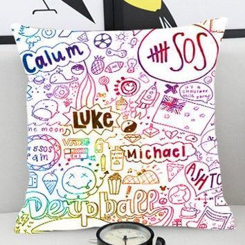 5 Seconds of Summer Collage - Pillow Cover by PillowKesetiaan.