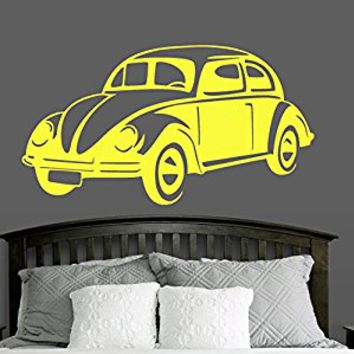 Wall Decal Vinyl Sticker Decals Art Decor Design Old Retro Mini Vintage Sport Car Auto Moto Girls Kids Style Gift Nursery Bedroom (r566)
