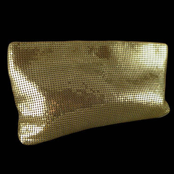 Whiting And Davis Mesh Clutch, Vintage Whiting And Davis Mesh Clutch Purse, Large Mesh Bag Size 9.5 x 5.75